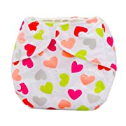 Iuhan Newborn Baby Summer Cloth Diaper Cover Adjustable Reusable Washable Nappy (F)
