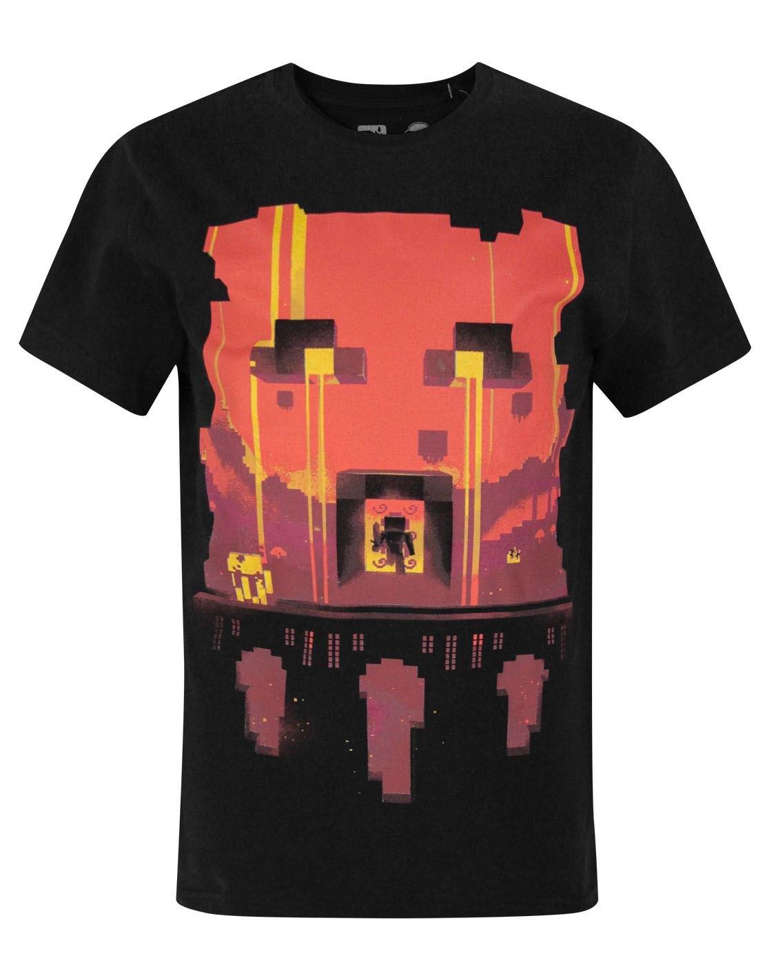 Minecraft - Camiseta de Manga Corta Oficial Modelo Glimpse Design para niños
