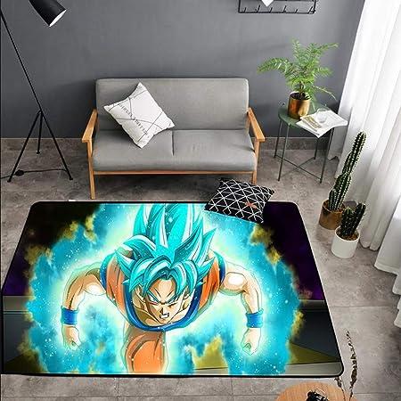Zdnals Alfombra Anime Goku Vegeta Diseño Alfombra Absorbente Antideslizante Rectangular Terraza Interior Exterior Modelo De Alfombra De Tamaño