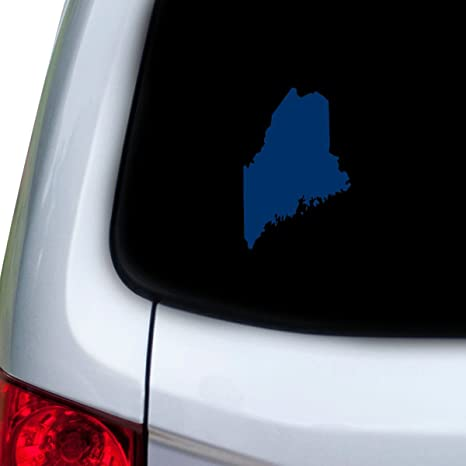 StickAny Car and Auto Decal Series Maine ME Sticker for Windows Doors Red Hoods
