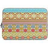 Mosiso - Bohemian Style Canvas Fabric 13-13.3 Inch Laptop / Notebook Computer / MacBook / MacBook Pro / MacBook Air Sleeve Case Bag Cover (Sunlight Garden)