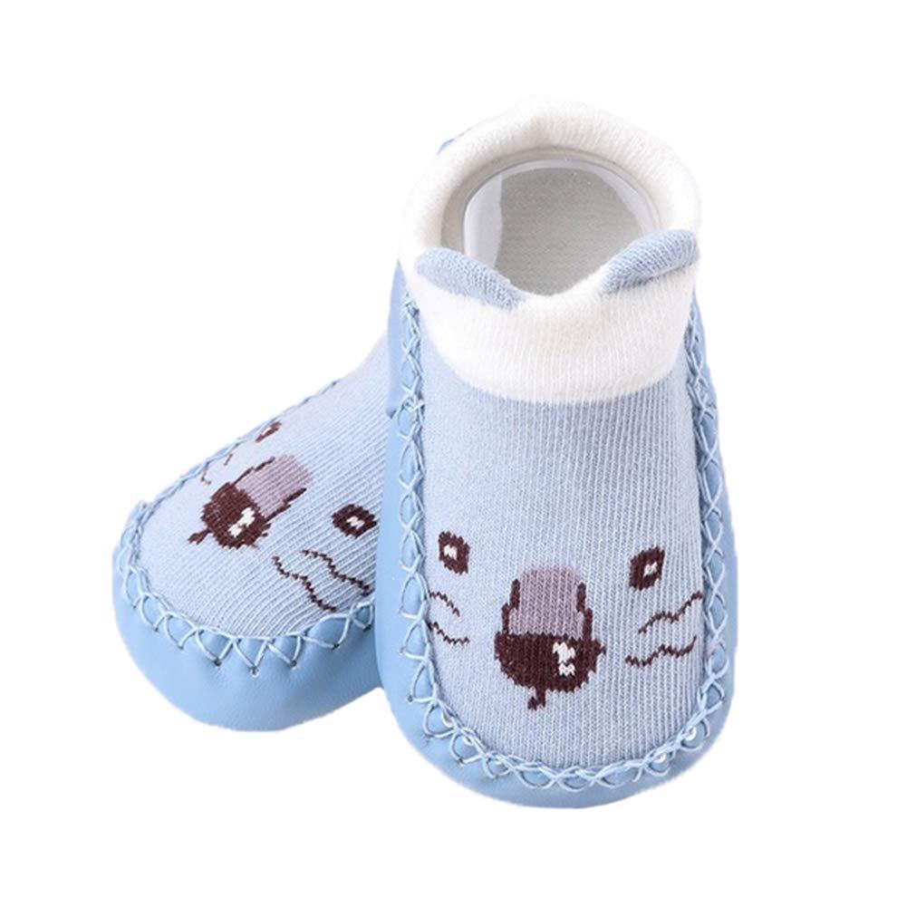Butterfly Iron Baby Shoes Newborn Baby Boys Girls Cartoon Animal Soft Anti-skid Indoor Floor Socks