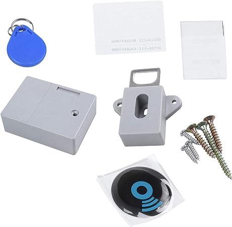 RETTI Cierre oculto invisible RFID para armario con sensor, cierre inteligente para armario, zapa...