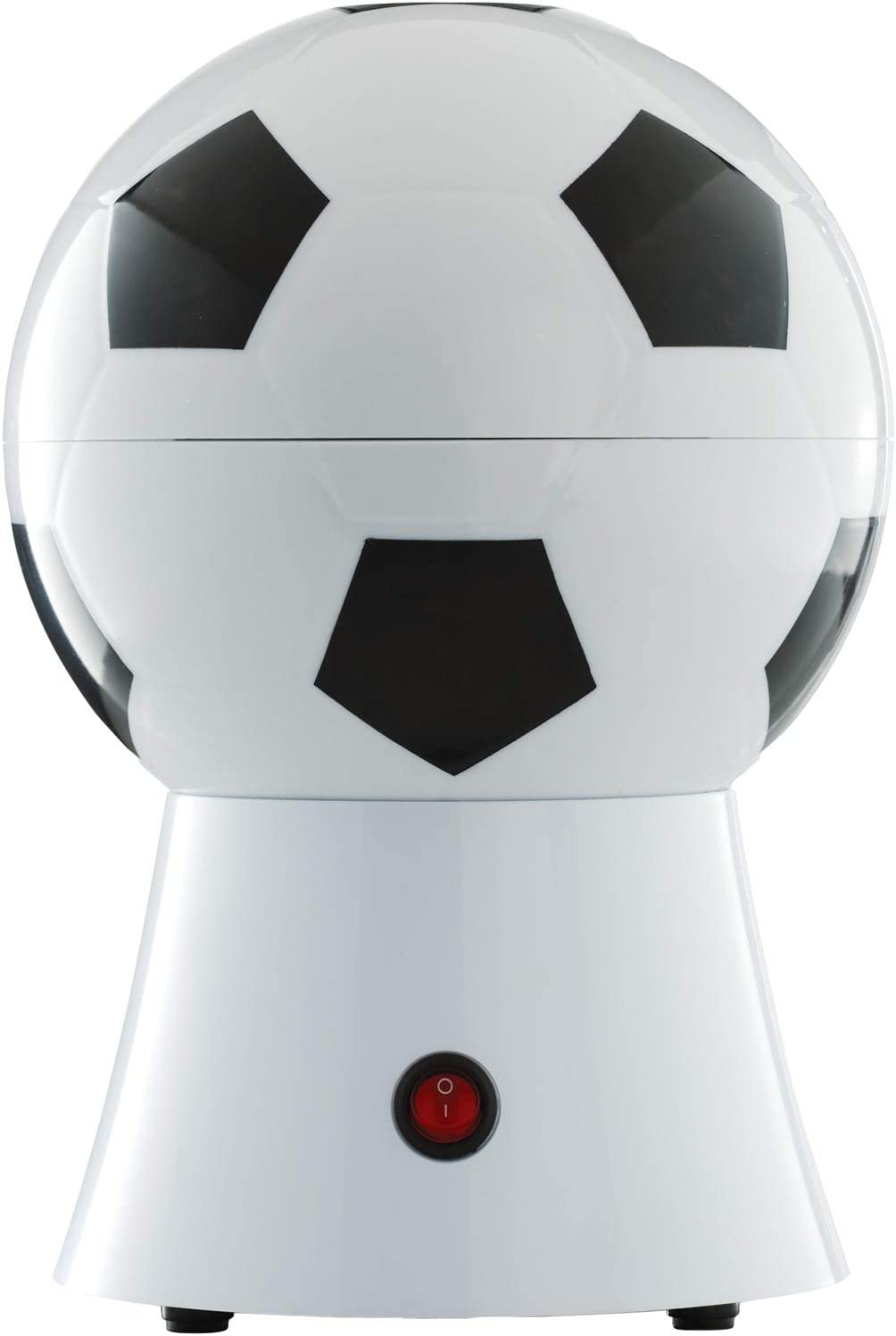 Brentwood PC-482 Soccer Ball Hot Air Popcorn Maker, 8-Cup, White/Black