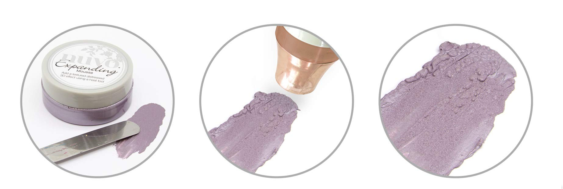Nuvo Expanding Mousse - Red Leather, Misted Mauve and Old Linen