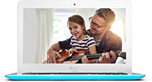 ASUS Chromebook C300SA 13.3 Inch (Intel Celeron, 4GB, 16GB eMMC, Light Blue) (Renewed)