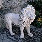 Design Toscano KY167 Regal Lion Sentinel of Grisham Manor Statue-Left Foot Forward Antique Stone, Off White