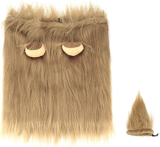 Sucedtop Fake Lion Mane para perro disfraz con regalo peluca de ...