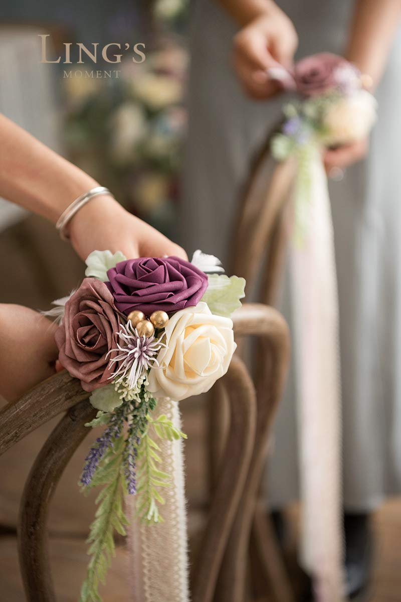 Lings-moment-Wedding-Aisle-Decorations-Set-of-8-Pew-Flowers-with-Tails-for-French-Style-Wedding-Decorations