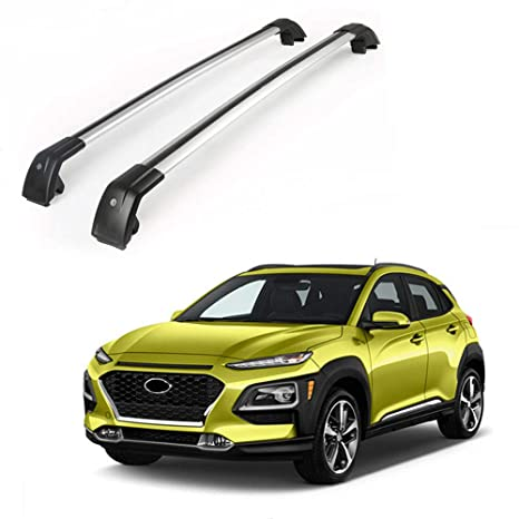 Fits for Hyundai Kona 2018 2019 Adjustable Roof Racks Rail Cross Bars Crossbars