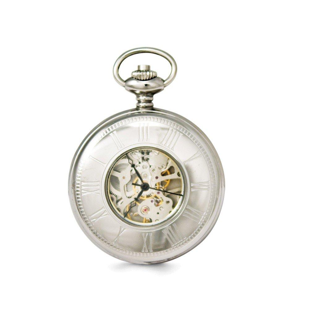 Top 10 Jewelry Gift Swingtime Stainless Steel Mechanical Pocket Watch