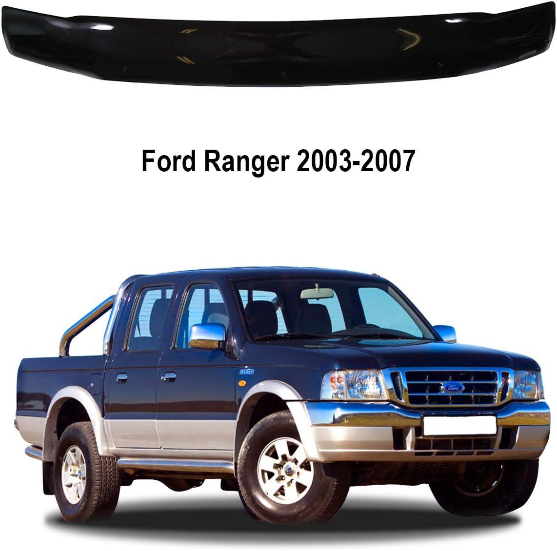 A-Technic D/éflecteur de Capot pour Ford Ranger 2003-2007 Classic Black