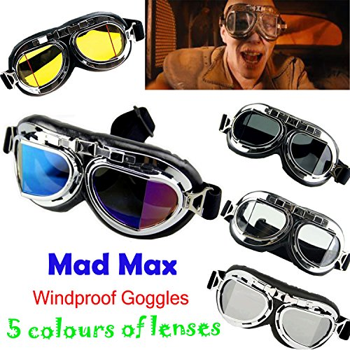 Mad Max Costume Women (Focussexy Mad Max Steampunk Windproof Costume Goggles)