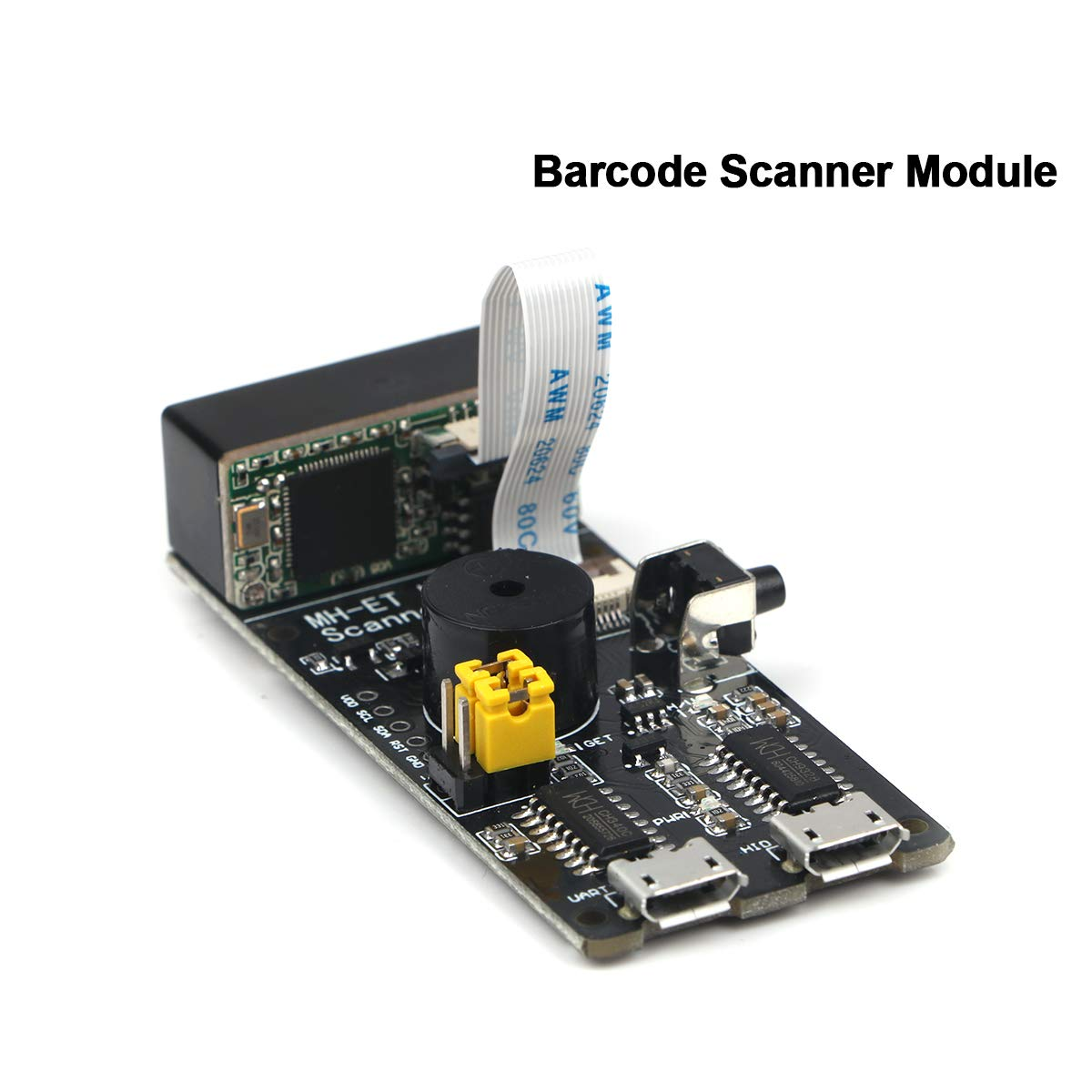 MakerHawk Barcode Scanner Module 1D/2D Codes Barcode, QR Code Scanner Module V3.0 Serial Embedded Two-Dimensional Scanning Engine Barcode Scan Recognition Module