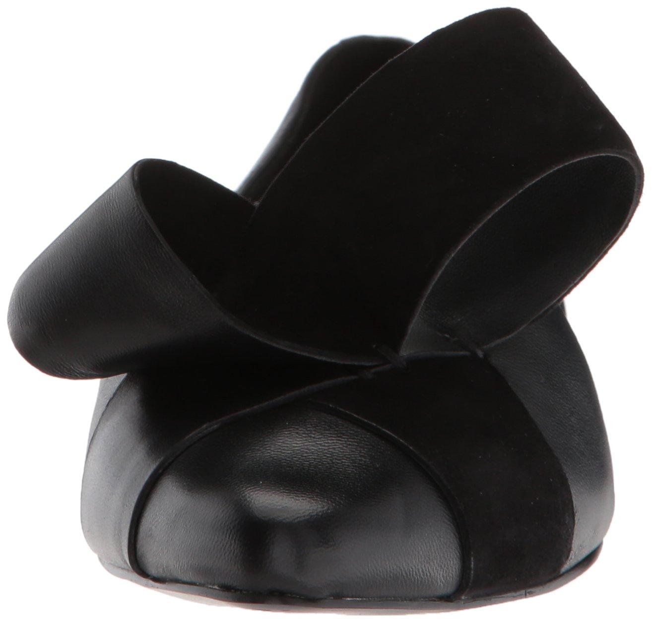 Nine West Women's Shoreside Leather Pump B072JMVR92 5.5 B(M) US|Black/Black Leather