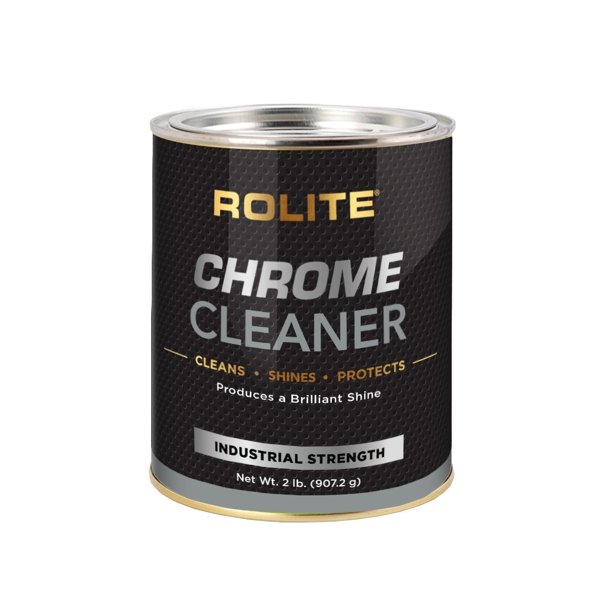 Rolite Chrome Cleaner (2lb) for All Chrome Plated Surfaces. Motorcycles, Automobiles, Boats, RVs, Bumpers and Much More