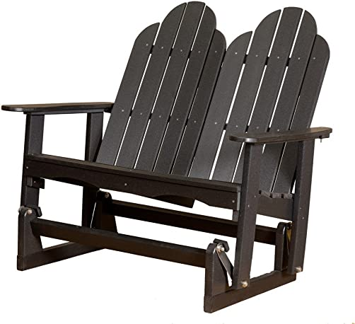 Little Cottage Company Lcc-208 Classic Adirondack Glider, Black