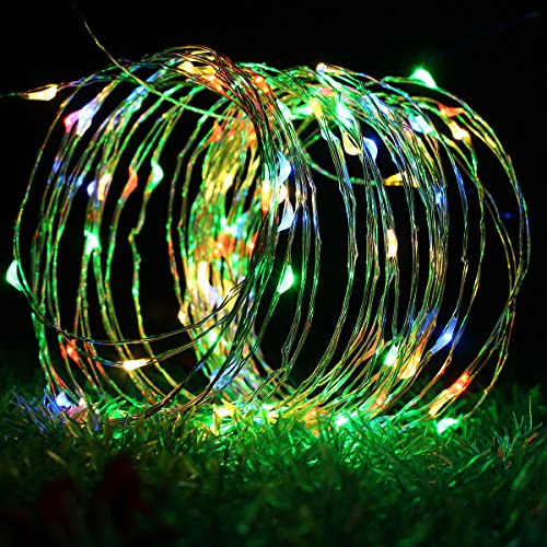 Glisteny Fairy Lights, Solar String Light 15M 150LED 8Mode Starry Strip Lights Copper Wire Lamp Waterproof IP65 Garden Outdoor For Home Bedroom Holiday Wedding Party Colorful light by Glisteny