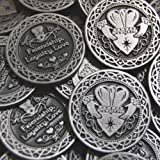 Set of 10 Friendship Loyalty Love Pocket Token Coins