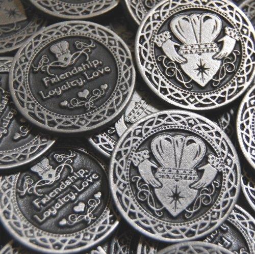 Irish Coin Set - Set of 10 Friendship Loyalty Love Pocket Token Coins