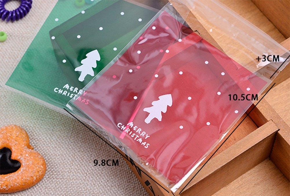 Lumanuby 100 Stück Transparent Verpackungs Beutel für Schokolade ...