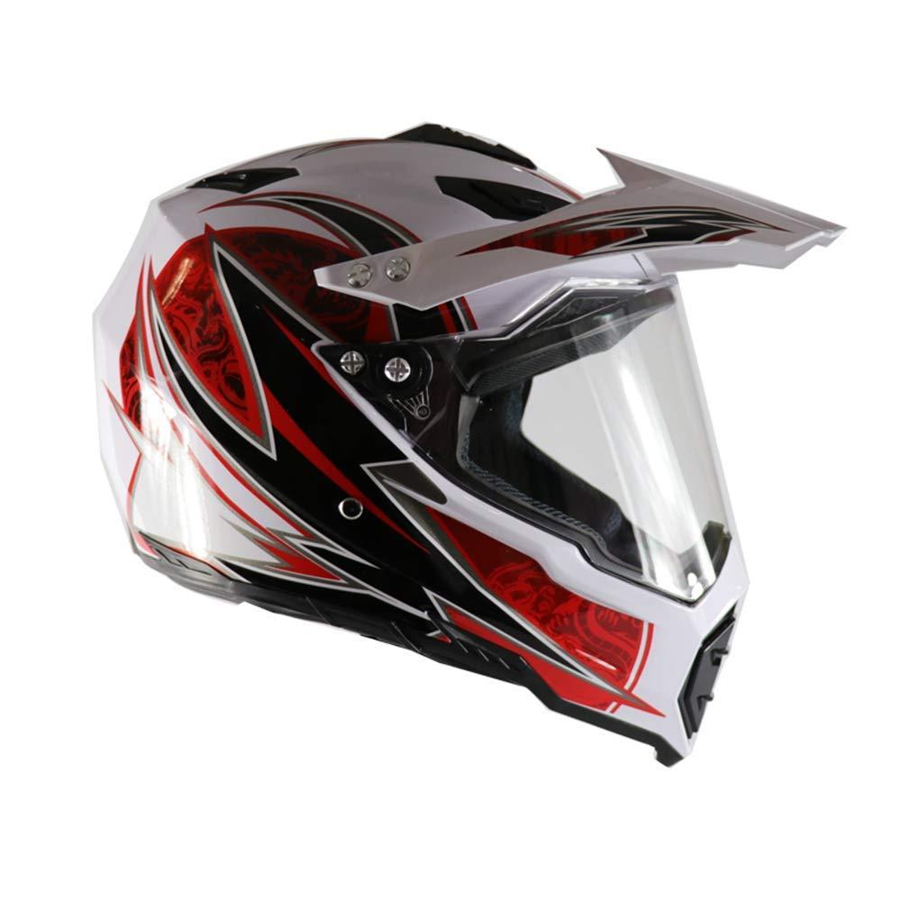 Casco Moto Cross Integrale MTB Motocross Casco Moto per Downhill Enduro Quad ATV Home Casco Cross con Visiera Fodera Removibile//Ventilazione Regolabile GL