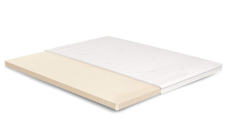 AS Meister 7cm Latex Topper 200x180 cm - Tencel Bezug mit 3D-Mesh-Klimaband & Stegkante - 5cm Klima-Latex RG 65 - Matratzenauflage 200x180 für Ihr Bett
