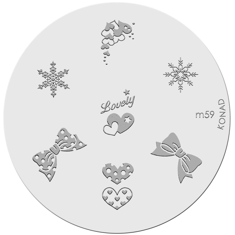 Amazon.com : Konad Stamping Nail Art Image Plate - M59 : Nail Art ...