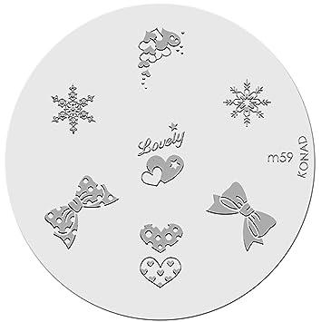Amazon konad stamping nail art image plate m59 nail art konad stamping nail art image plate m59 prinsesfo Gallery