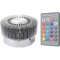 Sunix® Luz Techo LED 3W RGB, 16 Opciones colores, Cambio Color, Control Remoto 24 botones Incluido, Luz Pared Con Diseño Luz Dispersa [Clase de eficiencia energética A+]