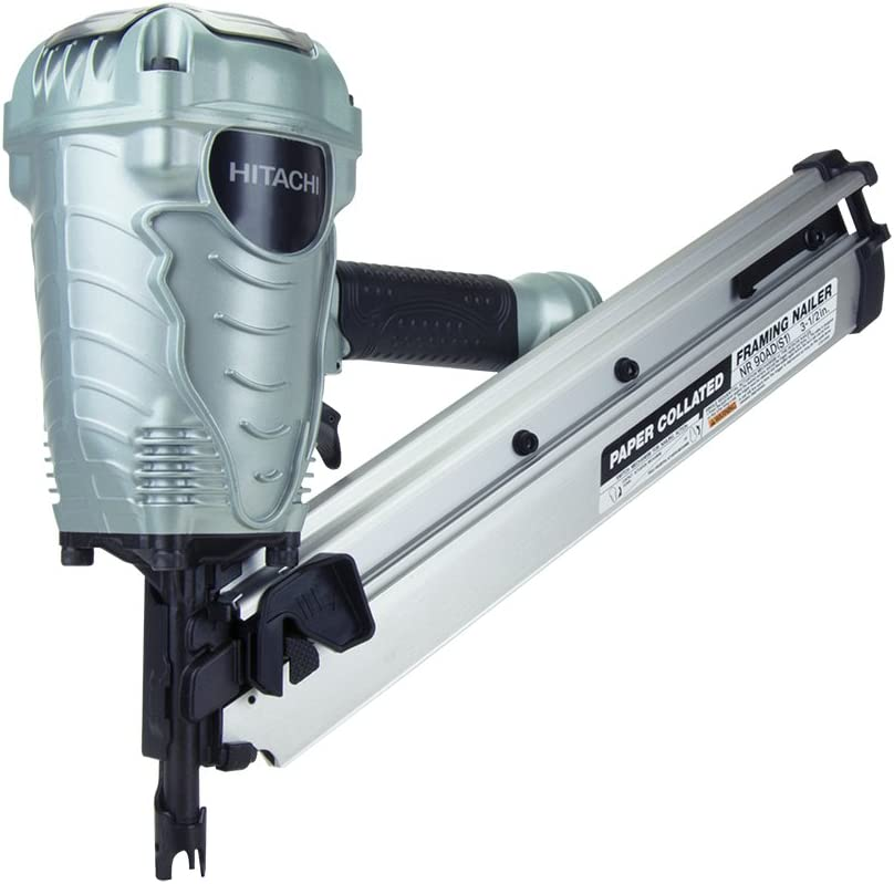 Hitachi NR90ADS1 2 to 3-1 2 Paper Collated Framing Nailer