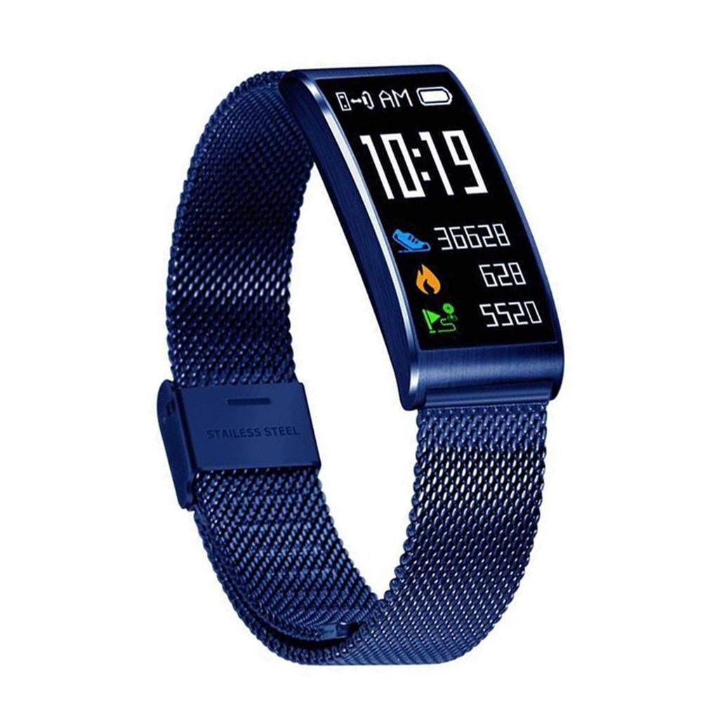 Leegoal Fitness Tracker, Wasserdichter Activity Tracker mit Herzfrequenz-Monitor, Sleep Monitor, Mehrere Sportarten, Step Kalorienzähler, Anruferinnerung für Frauen, Männer, Kinder Step Kalorienzähler Männer Kinder(Blau)