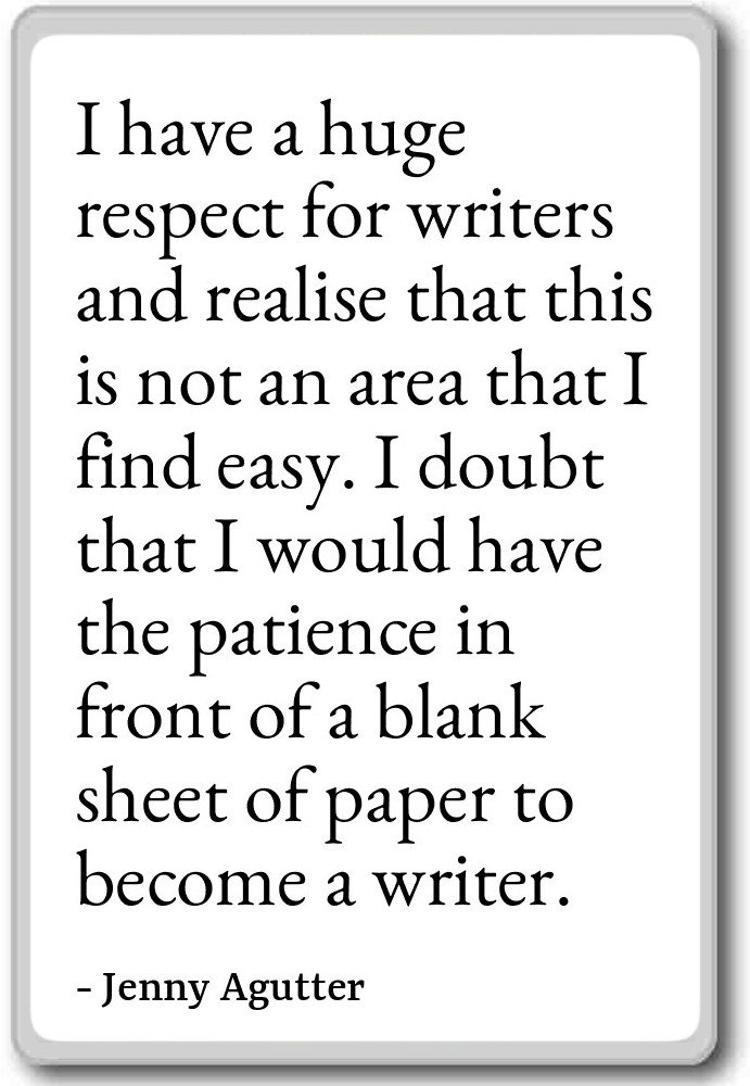 Amazon I Have A Huge Respect For Writers And Realise Jenny