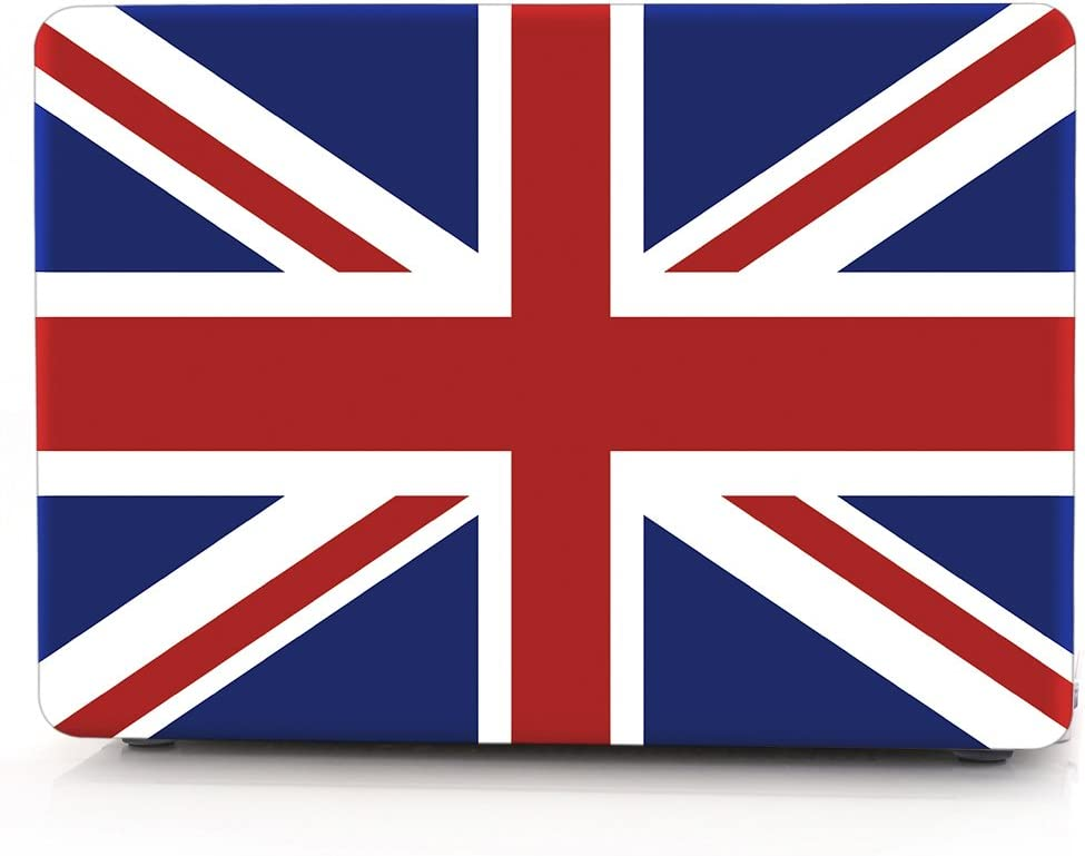 "HRH British Flag Union Jack Laptop Body Shell Protective Rubberized Hard Case for MacBook Air 13.3"" (A1466 / A1369),Not Compatible 2018 Version A1932"