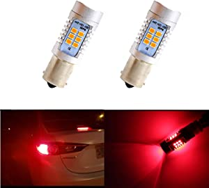 Dantoo 2pcs Extremely Bright 1157 Brake Light LED 21 SMD 2057 7528BAY 15D Bulbs Brilliant Red Tail Lights LED Brake Bulbs Lamp Replacement