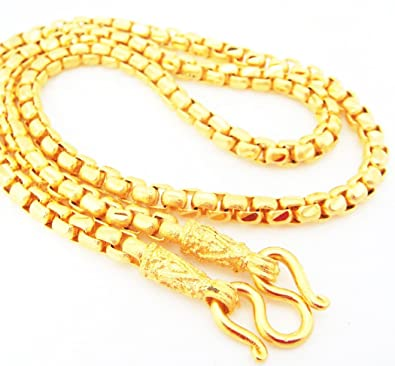 Amazoncom Chain 22K 23K 24K THAI BAHT GOLD GP NECKLACE 24 50