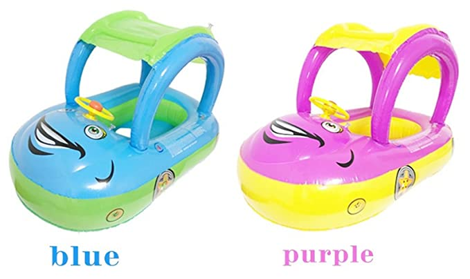 Amazon.com: Hot Sale! Baby Float Seat Car Sun Shade Baby Swim Inflatable Donut Ring Children Rubber Circles Flotador Swimtrainer Swimming Accessories ...