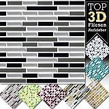 3d adesivi per piastrelle in diverse misure e colori w5423, design 13, 4 Stück 27,9 x 25,3 cm