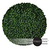Boxwood Topiary Ball - 15'' Artificial Topiary Plant - Wedding Decor - Indoor/Outdoor Artificial Plant Ball - Topiary Tree Substitute (2, Boxwood)