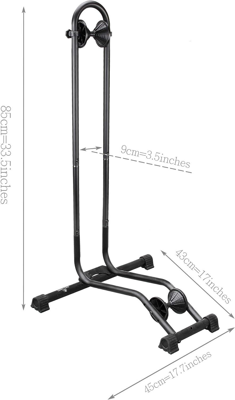 easy setup 3 Bike Bicycle Floor Parking rack Storage Stand wheel rack USA