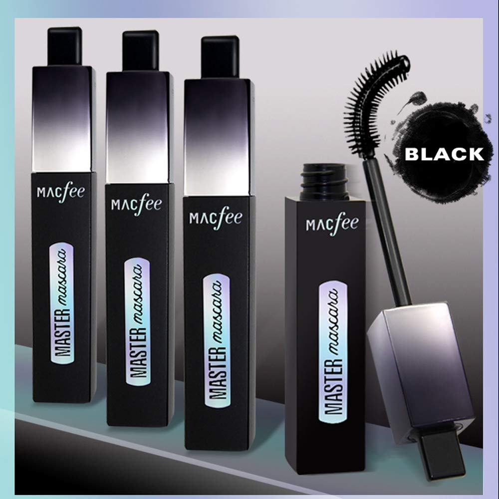 Amazon.com : Black Mascara Fiber 4D Mascara Waterproof Curling Lengthening Exquisite not SUMI Fine Brush Head Encryption 11ML : Beauty