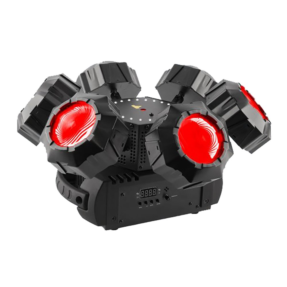CHAUVET DJ Helicopter Q6 Multi-Effect Light w/SMD Strobe and Red/Green Laser on Rotation Base | Laser & Strobe Effects