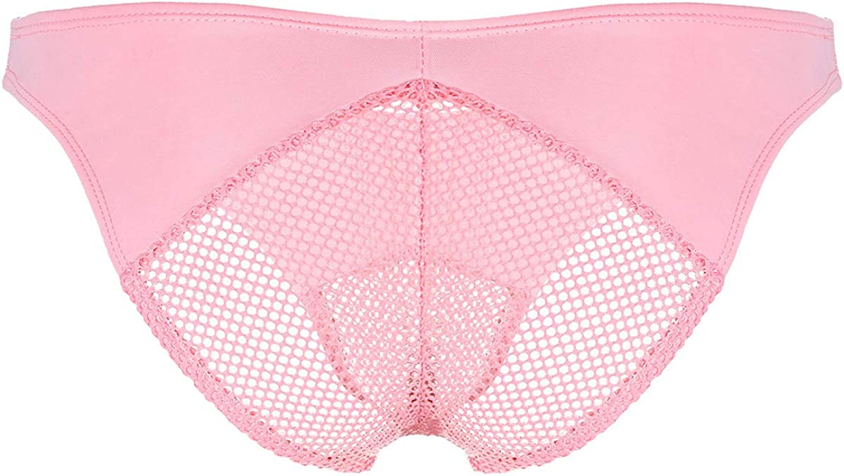 CHICTRY Mens Sissy Lingerie Mesh Fishnet Patchwork Perspective Pouch Thong Underwear