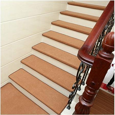 YXUD Alfombra Escalera - 5 Juegos de escaleras Interiores Antideslizantes, Alfombrillas Interiores para Mascotas - Alfombra Antideslizante para escaleras,Lighttan,90cm*24cm*3cm: Amazon.es: Hogar