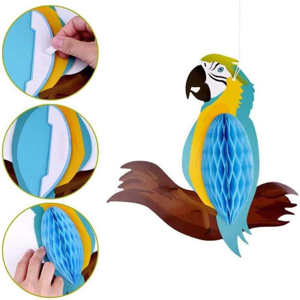 EOPER 6 Pi/èces Suspendu Perroquet en Papier Tropicaux Oiseaux D/écoration Ornement de Mariage Anniversaire Plage Piscine F/ête