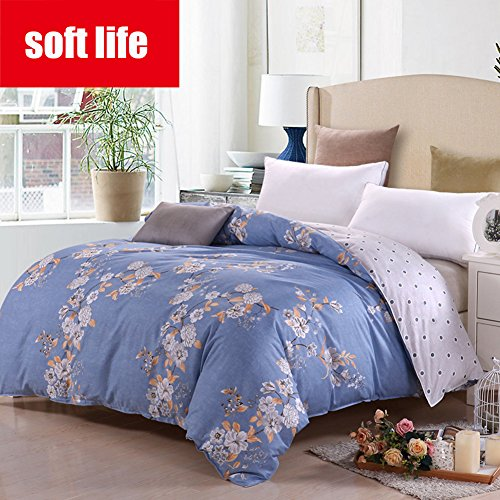 L&J Cotton Quilt Cover,duvet cover 100% Cotton Bedding Double Queen King Reversible 400tc Solid Color Comfortable Breathable Soft Wrinklefade Resistant Simple Gift-1piece-O 180220cm(70.8x70.8inch) supplier