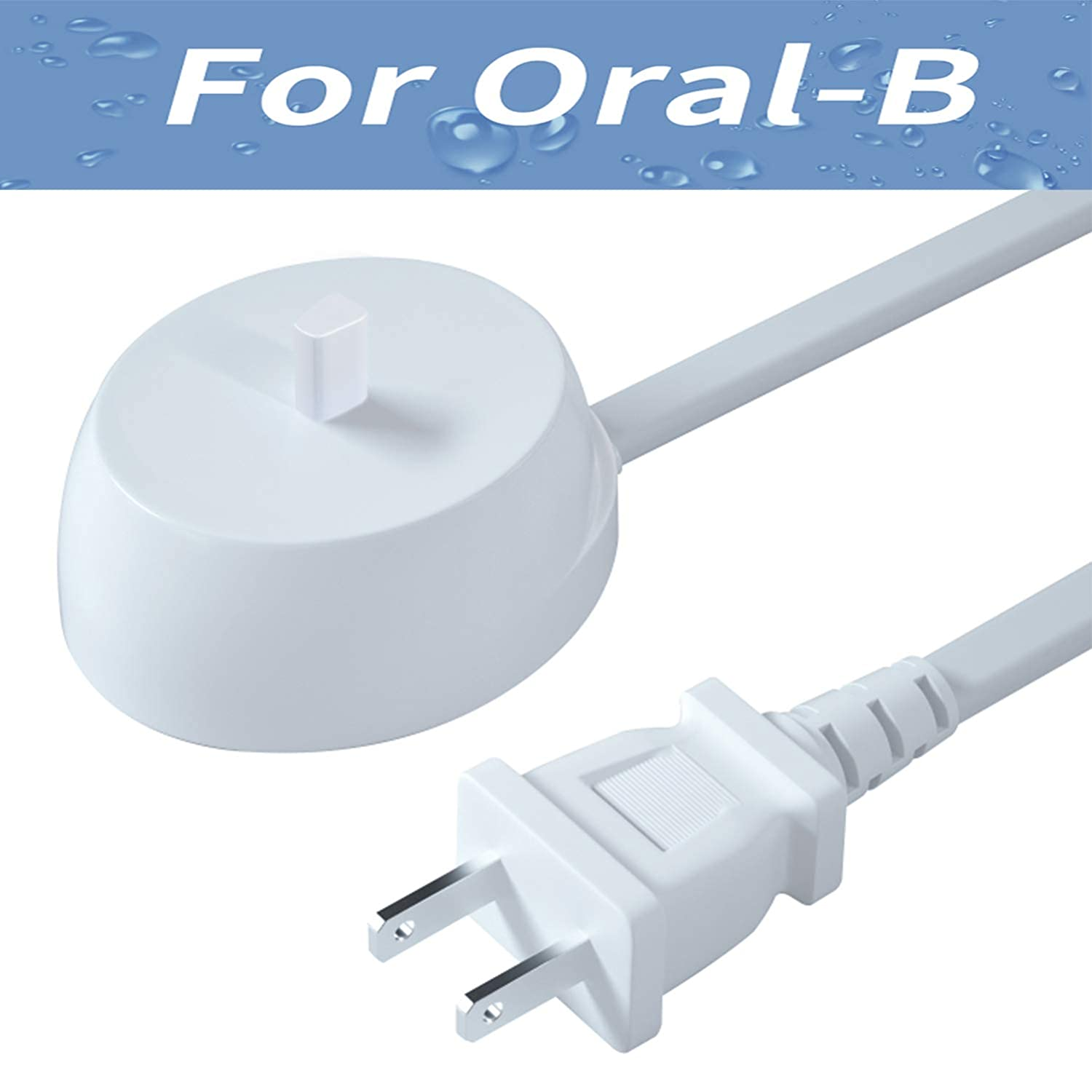 Replacement Charger Base for Braun Oral B -Electric Toothbrush Replacement Charger Power Cord Supply Portable Inductive Travel Charging Base Model 3757