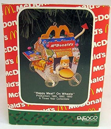 Mcdonalds Christmas Ornament.Enesco Treasury Of Christmas Ornament Happy Meal On Wheels