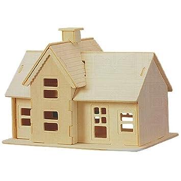 SodialR Kit De ConstructionPuzzles D De Modele De Maison De