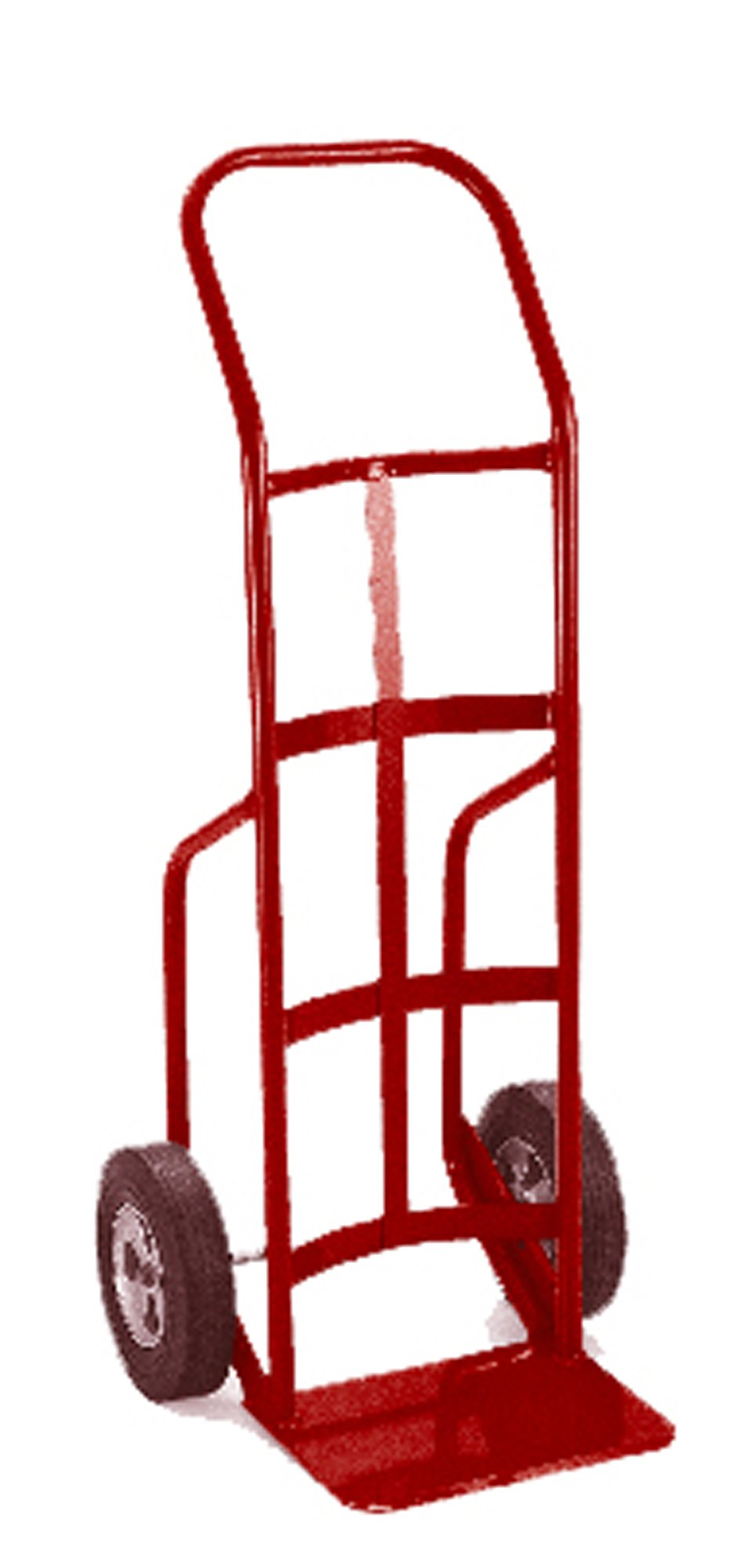 Lockwood HTS-33007 Steel Hand Truck with Curved Back and Kickback Handle, Solid Rubber Wheels, 700 lbs Load Capacity, 50'' Height, 20'' Length x 18'' Width